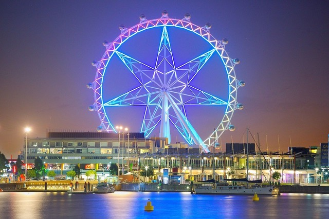 Melbourne Star at night