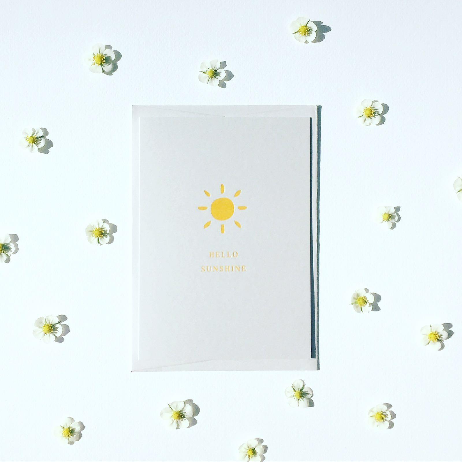ELLY VVALLER_Greetings_Card_Hello_Sunshine